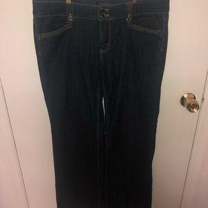 White House Black Market Blanc 10 R Wide Trouser